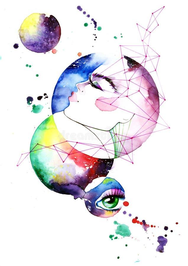 Imagination graphique colorée illustration stock