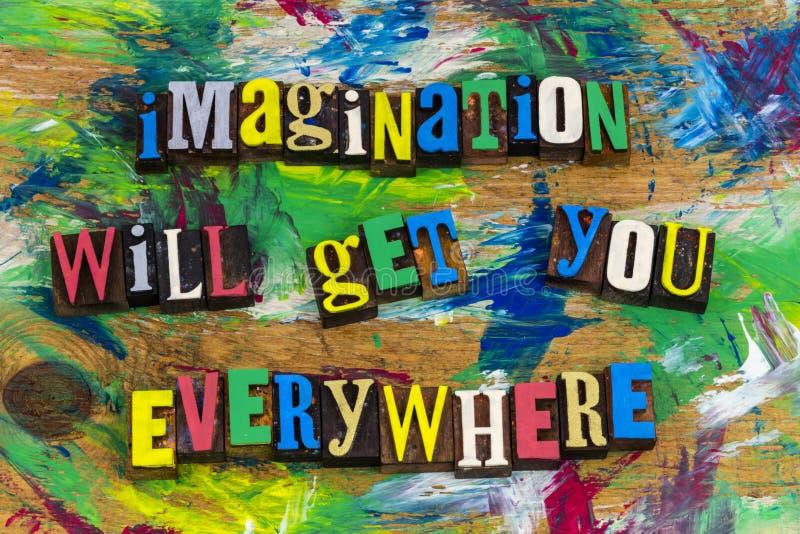 Imagination le conseguirá por todas partes imagenes de archivo