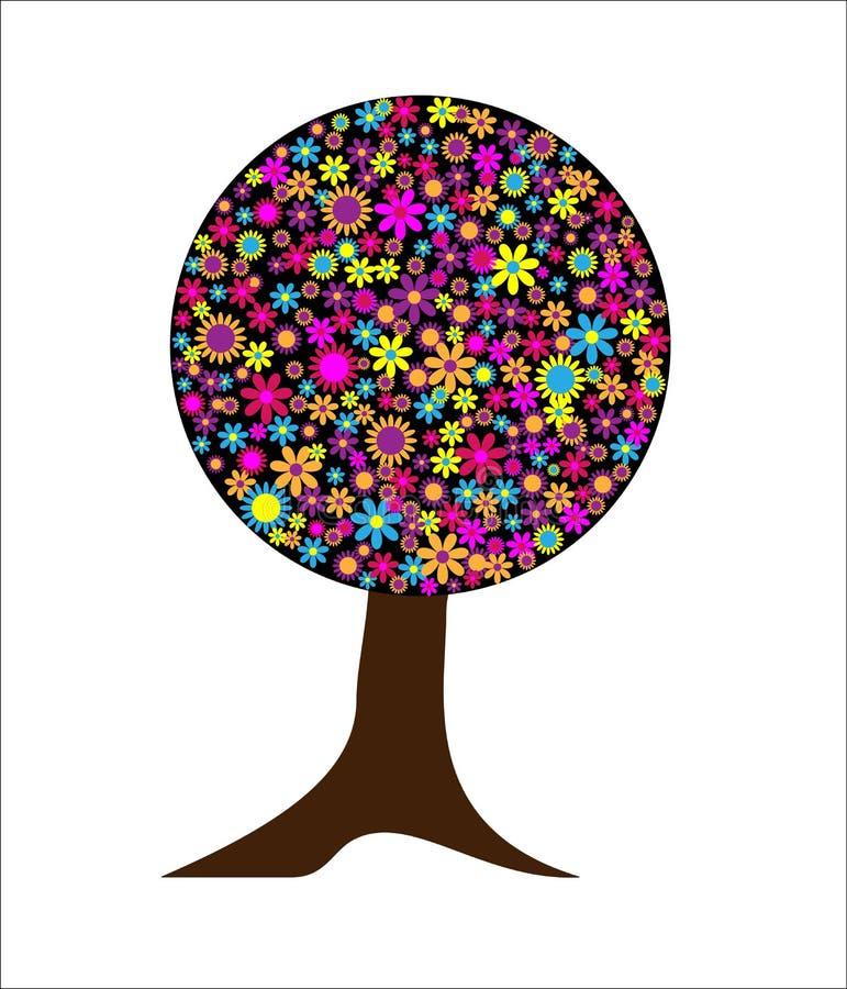 Imagination magique d'arbre de fleurs   illustration stock