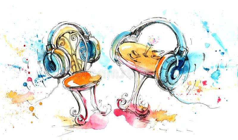Imagination musicale illustration stock
