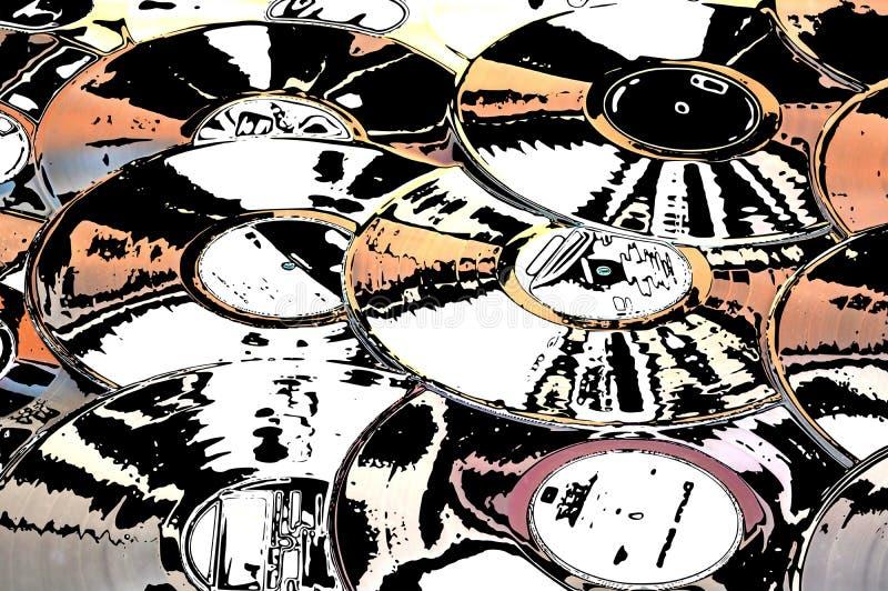 imagination musicale des vinyles illustration libre de droits