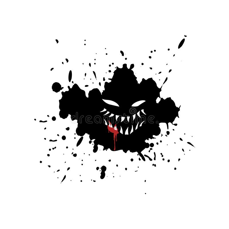 Free Imaginative Monster Face On Ink Stain Stock Photography - 164019542