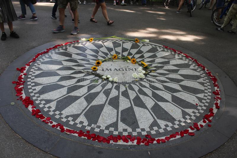 Imagine image, strawberry fields central park royalty free stock photography