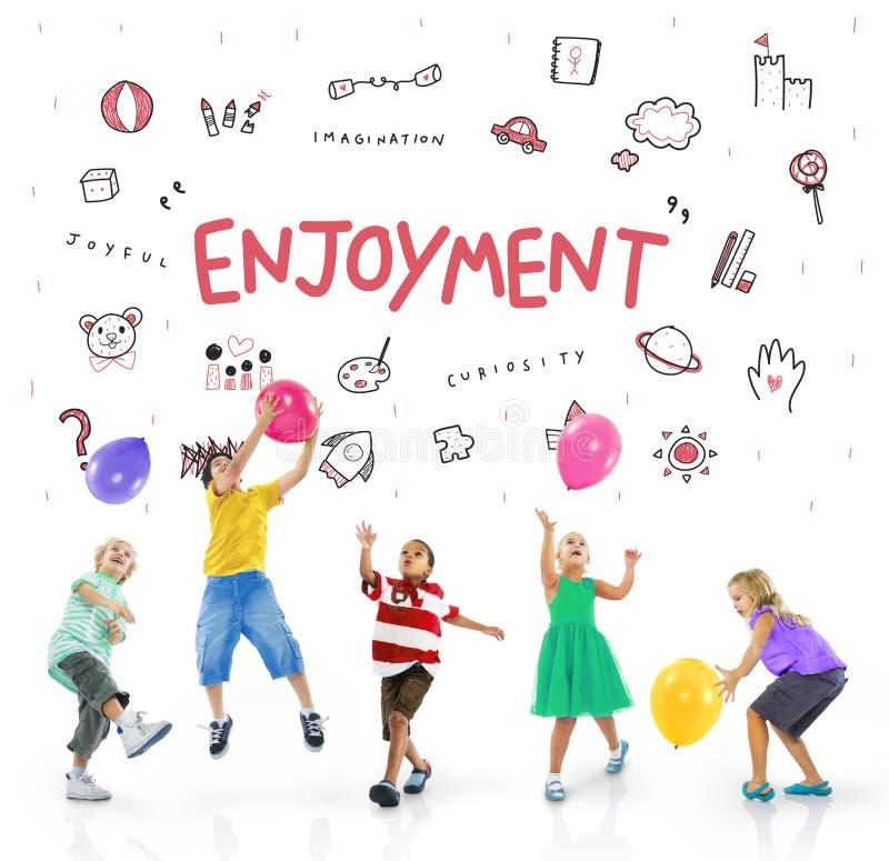 Imagine Kids Freedom Education Icon Concept stock photography
