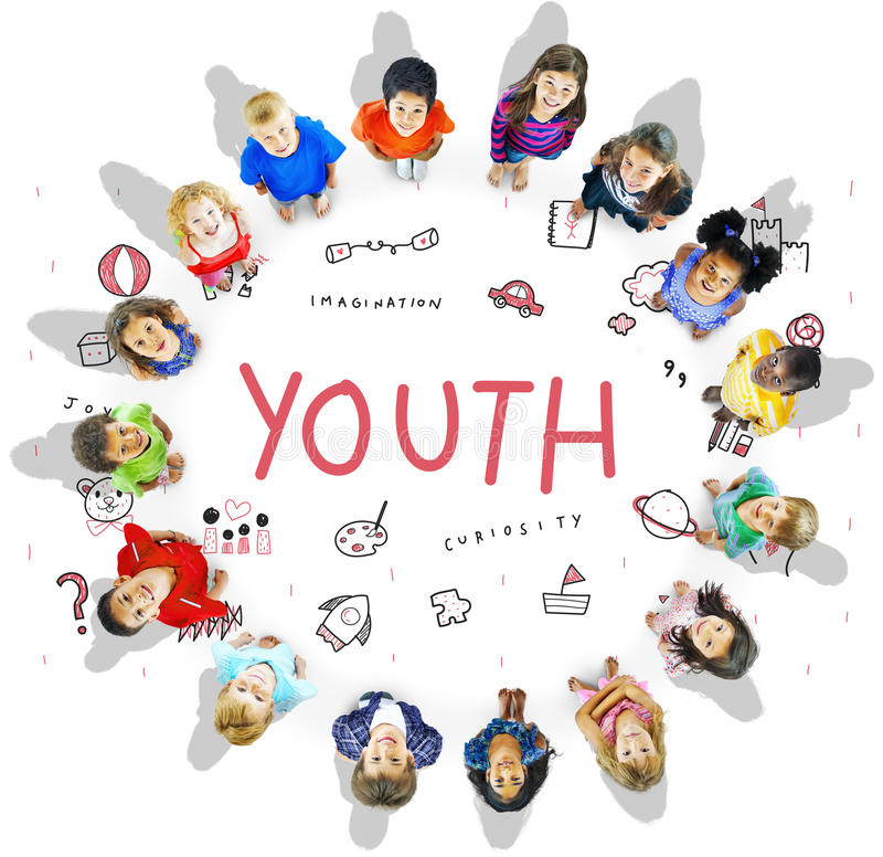 Imagine Kids Freedom Education Icon Conept. Imagine Kids Freedom Education Icon royalty free stock image