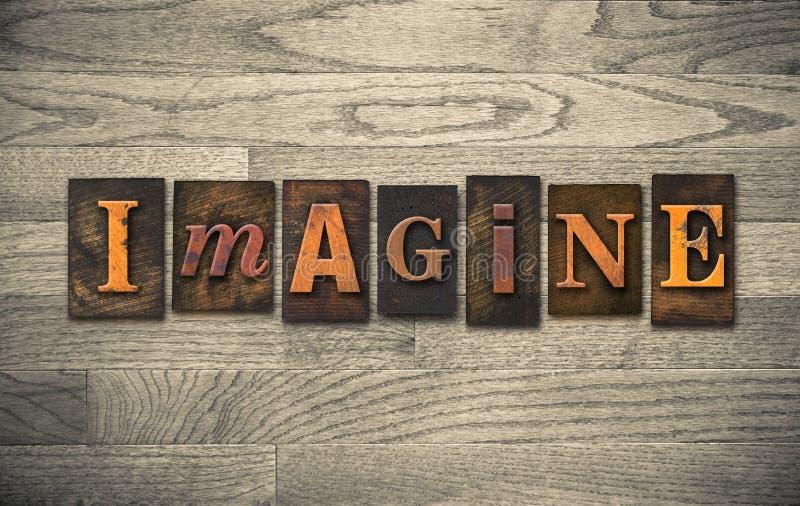 Imagine o tema de madeira da tipografia fotos de stock royalty free
