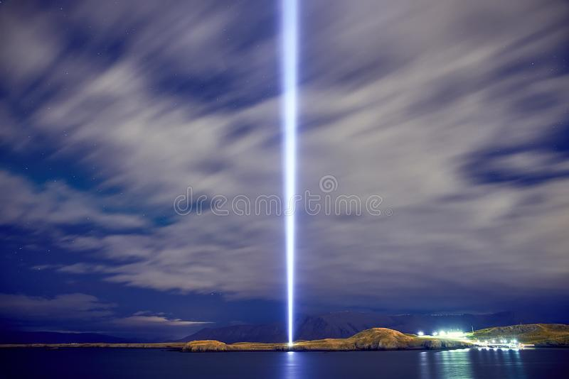 The Imagine Peace Tower royalty free stock image
