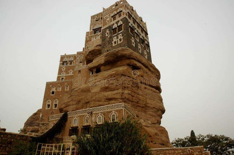 Imam der Jemen Sana Dal al Hajar yahya lizenzfreie stockfotos