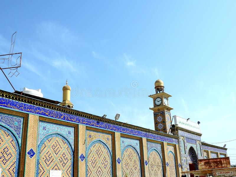 Holy Shrine of Husayn Ibn Ali, Karbala, Iraq. The Imam Husain Shrine or the Station of Imam Husayn Ibn Ali is the mosque and burial site of Husayn Ibn Ali, the royalty free stock photo