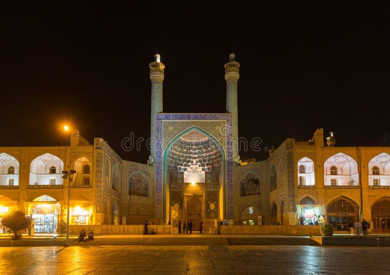 Imam Mosque an Quadrat Naghsh-e Jahan in Isfahan, der Iran stockfotografie