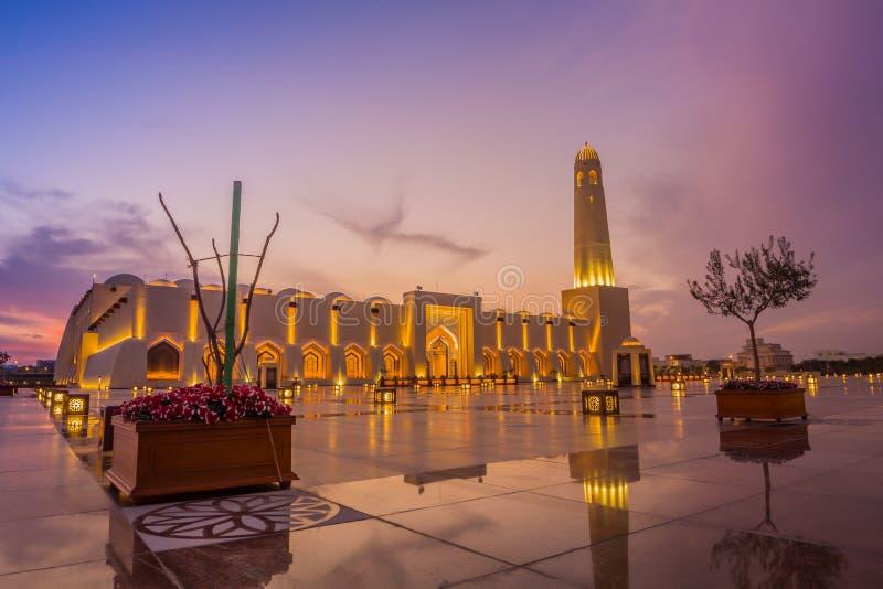 Imam Muhammad ibn Abd al-Wahhab Mosque Qatar State Mosque royalty free stock image