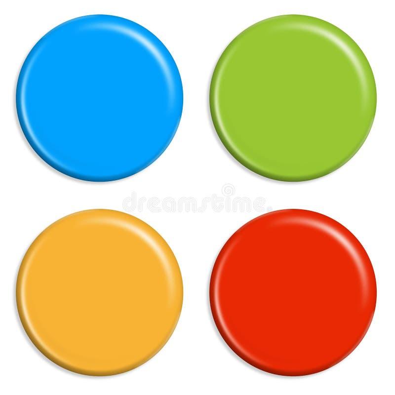 4 imanes coloreados libre illustration
