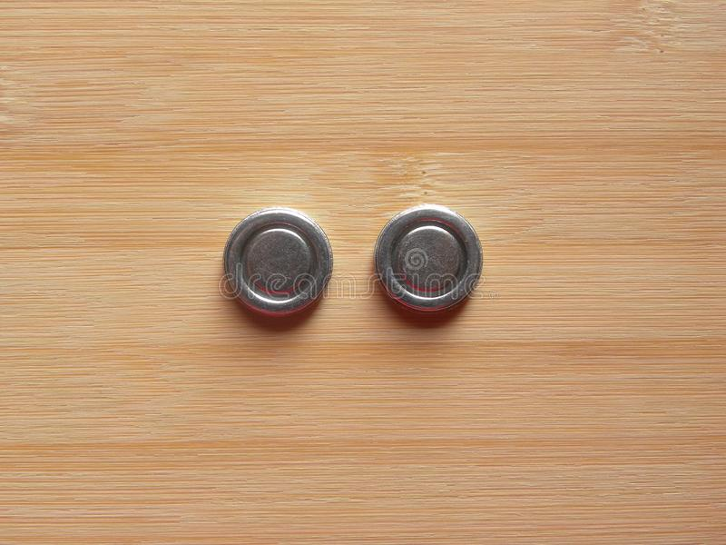 2 imanes internos foto de archivo
