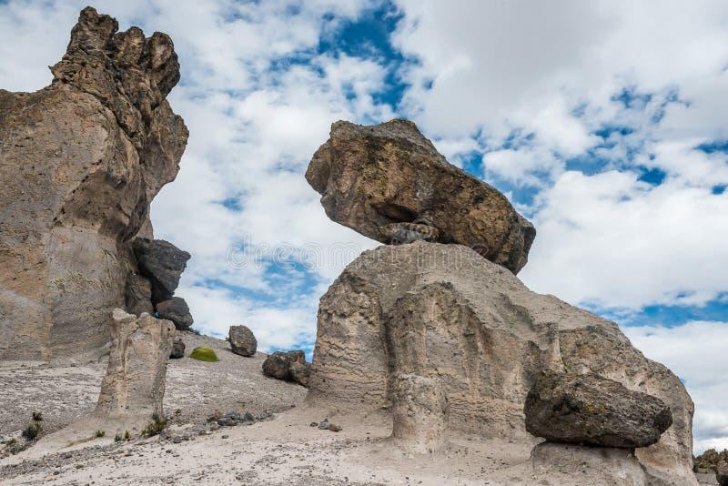 Imata apedreja a floresta no Peru peruano de Andes Arequipa imagem de stock