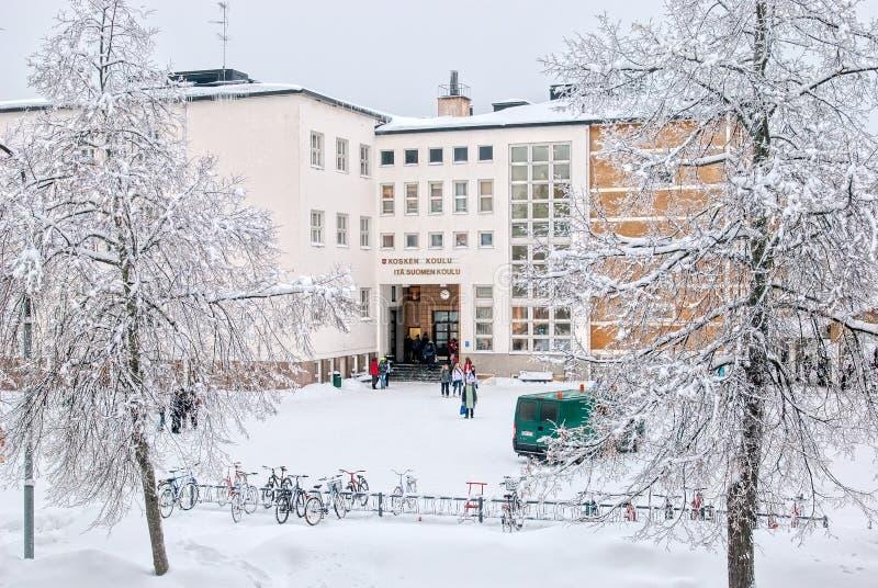 Imatra finland La scuola Finlandese-russa della Finlandia orientale immagini stock