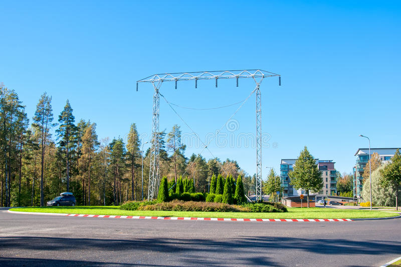 Imatra, Finlandia Monumento della torre della trasmissione immagini stock libere da diritti