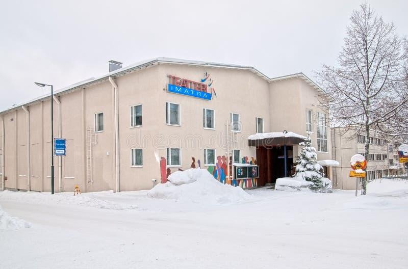 Imatra, Finlandia Teatro della città fotografie stock libere da diritti