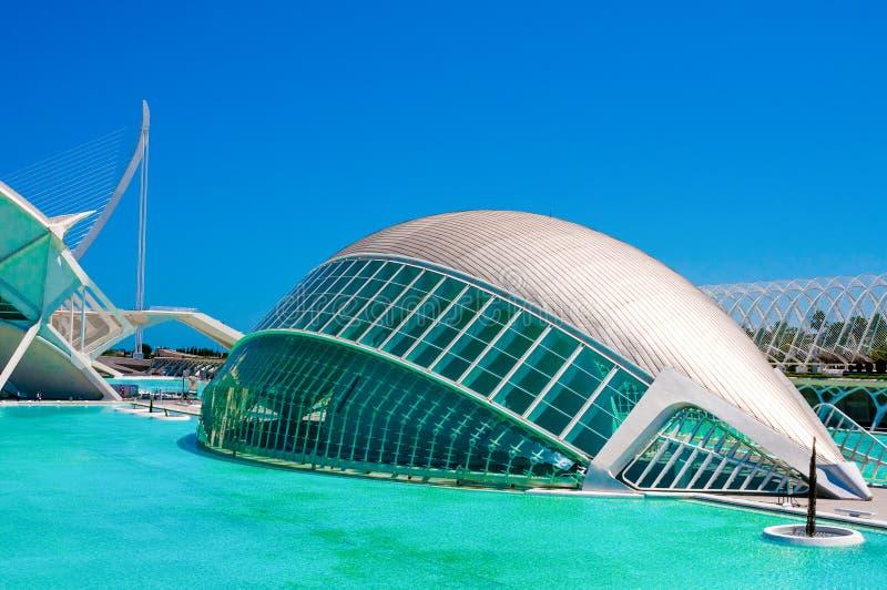 IMAX 3D-cinema w mieście nauki w Walencja i sztuki, Hiszpania obrazy royalty free