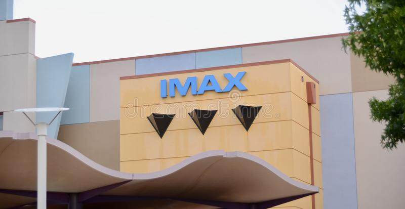 IMAX Cinema and Movie Theatre. IMAX is a system of high-resolution cameras, film formats and film projectors royalty free stock photos