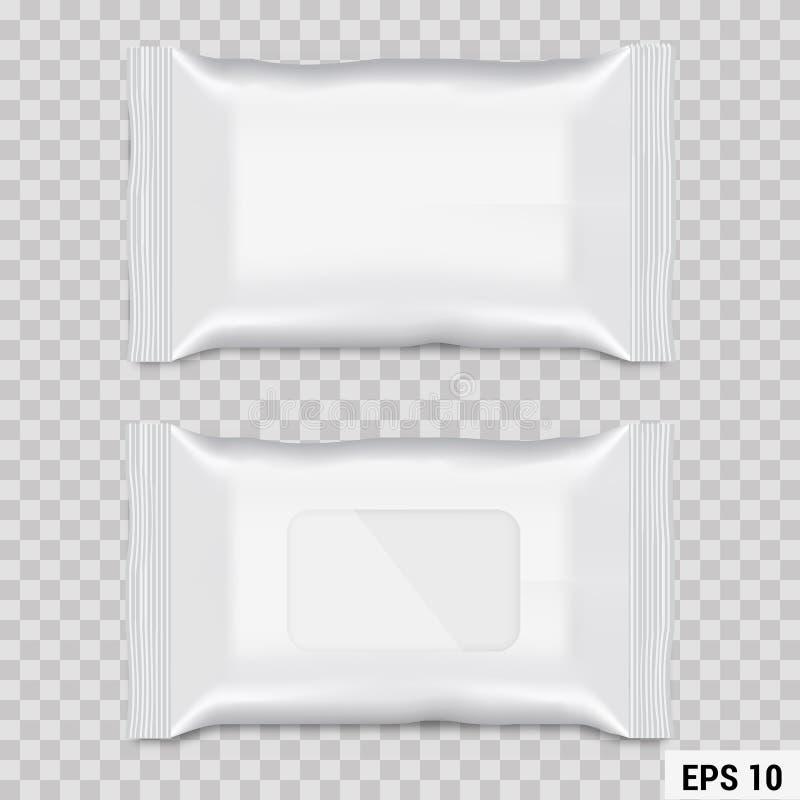 Imballaggio bagnato realistico di flusso della strofinata Vettore royalty illustrazione gratis