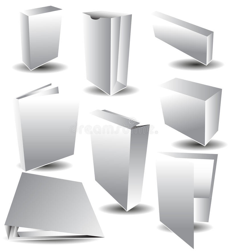 Imballaggio bianco dello spazio in bianco illustrazione vettoriale