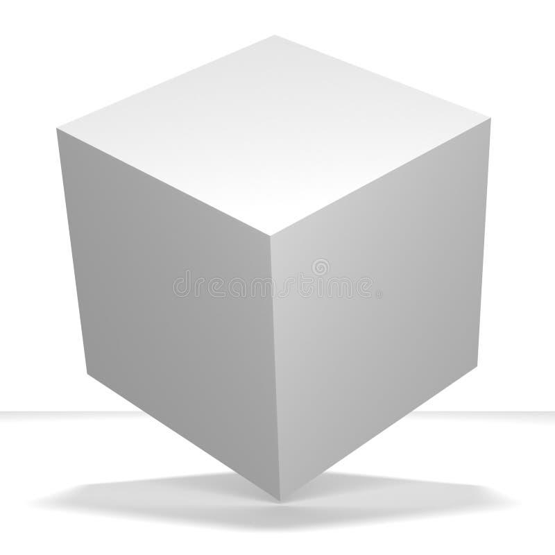 Imballaggio bianco vuoto in bianco del cubo royalty illustrazione gratis