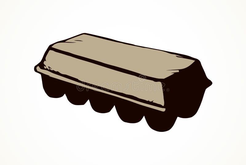 Imballaggio chiuso dell'uovo Illustrazione di vettore illustrazione vettoriale