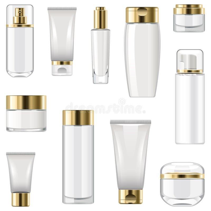 Imballaggio cosmetico adenoide di vettore illustrazione di stock