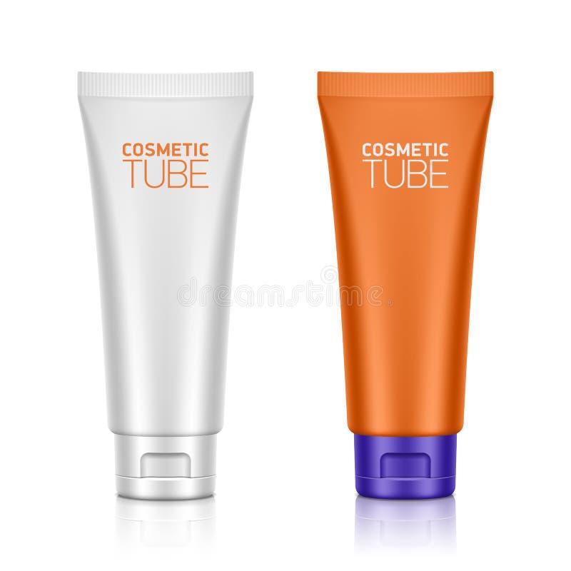 Imballaggio cosmetico, tubo di plastica illustrazione di stock