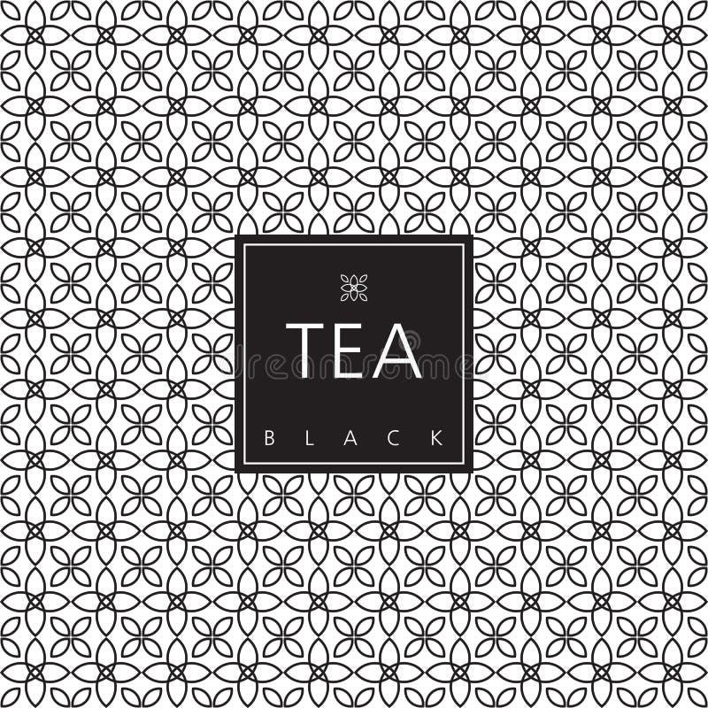 Imballaggio del tè elemento di progettazione del modello illustrazione vettoriale