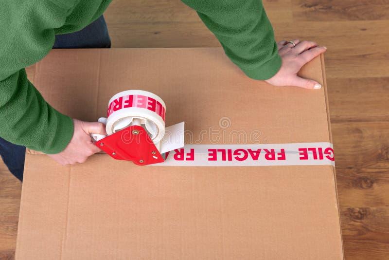 Imballaggio della casella immagini stock libere da diritti