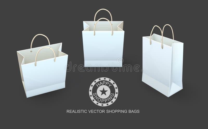 Imballaggio di carta dei sacchetti della spesa per le merci royalty illustrazione gratis