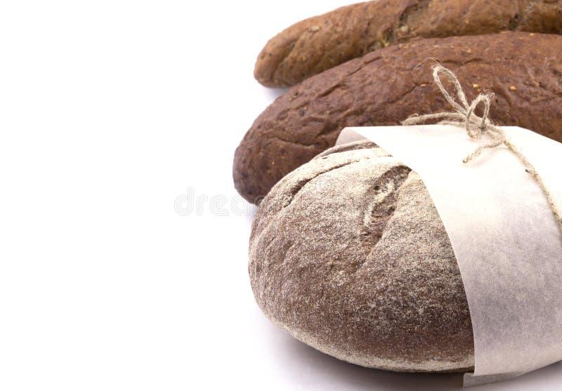 Imballaggio di pane scuro immagine stock