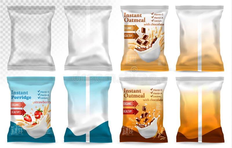 Imballaggio di plastica del polipropilene - porridge istantaneo royalty illustrazione gratis