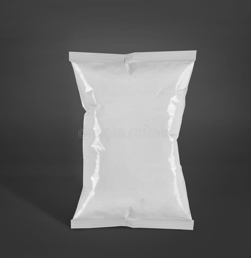 Imballaggio di plastica delle patatine fritte o contenitore di alimento immagine stock libera da diritti