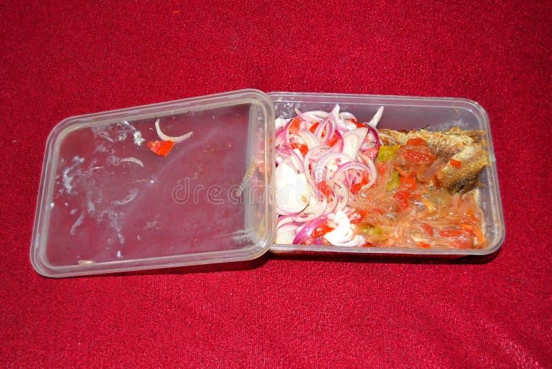 Imballaggio per alimenti biodegradabile per l'alimento asportabile fotografia stock libera da diritti