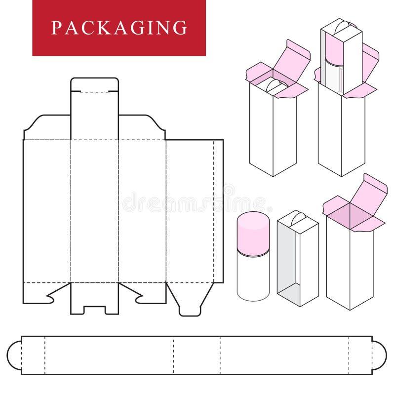 Imballando per il prodotto dello skincare o del cosmetico illustrazione vettoriale
