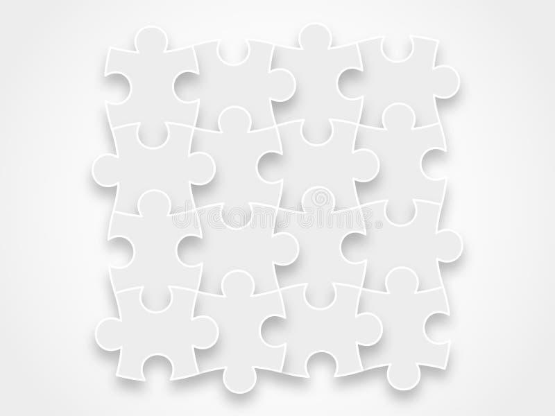Imbarazzi i pezzi che formano un grafico dell'illustrazione di vettore del blocco isolato su fondo royalty illustrazione gratis