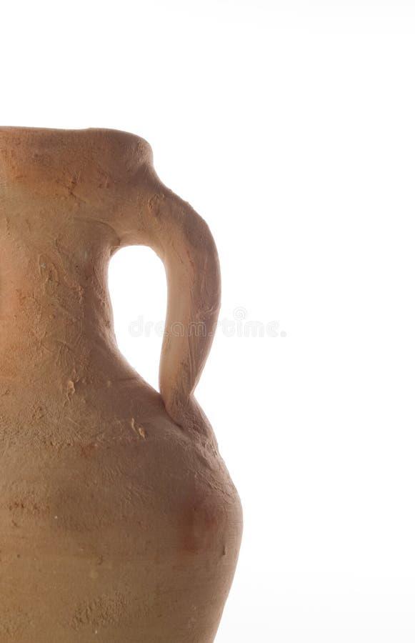 Imbarcazione delle terraglie dell'argilla del Amphora immagini stock