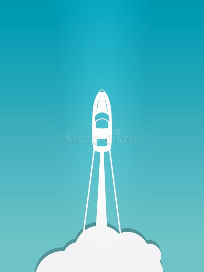 Download Imbarcazione a motore illustrazione di stock. Illustrazione di motoscafo - 56887515