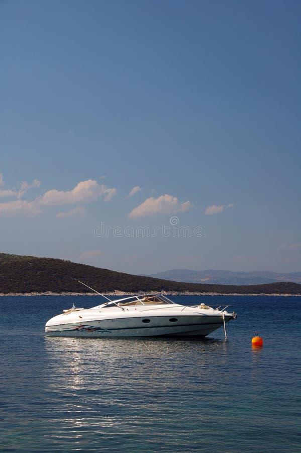 Imbarcazione a motore di lusso fotografie stock