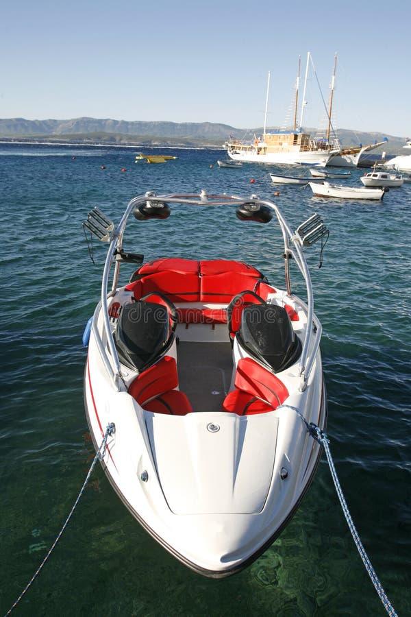 Imbarcazione a motore moderna veloce immagini stock libere da diritti