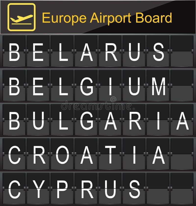 Imbarco digitale dell'aeroporto di Europa royalty illustrazione gratis