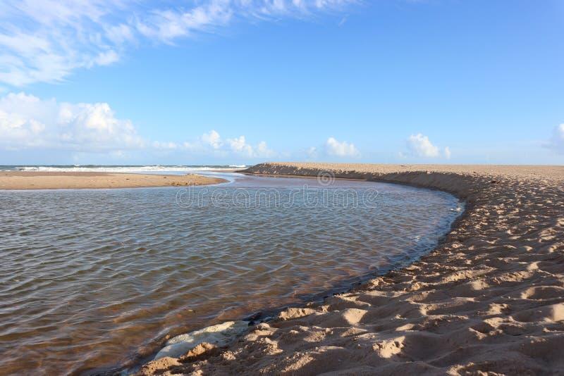 imbassaà plaża, Brazylia zdjęcia stock