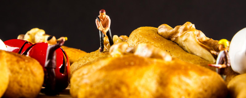 Imbirowy chleb zasycha zbliżenie zdjęcia stock