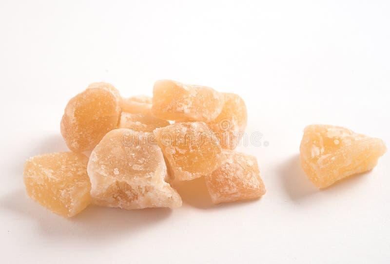 Imbirowy cukierek odizolowywający na białym tle fotografia royalty free