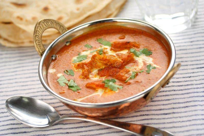 Imburri il pollo, cucina indiana immagini stock