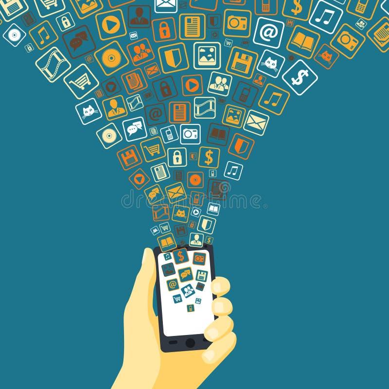 Imbuto mobile di applicazioni illustrazione di stock