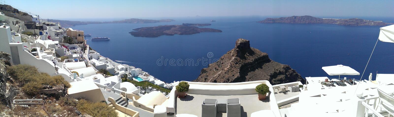 Imerovigli caldera view royalty free stock photography