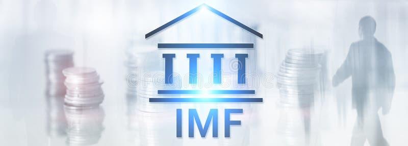 IMF Международный Валютный Фонд Принципиальная схема финансов и банка бесплатная иллюстрация